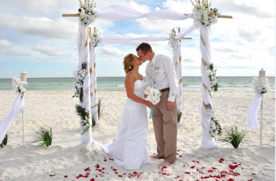Özelleştirmek romantik plaj keten beyaz mensuits suit damat gelinlik iyi adamın gündelik moda yaka ceket