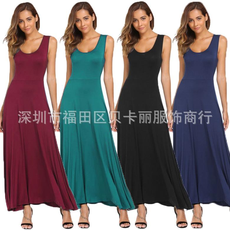 11d0c0c9c4d Casual Women Stretch Brief Sleeveless Long Maxi Summer Dresses Sexy  Backless Sheath Slim Grown Party Dress Purple Lace Maxi Dress Short And  Long Dress From ...