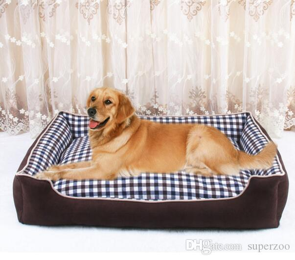 For Large Dog Classic Lattices Pet Dog Bed Sleep Warm Cat Puppy Soft Dog Blanket Mat Fall Winter Warm Kennel Drop shipping