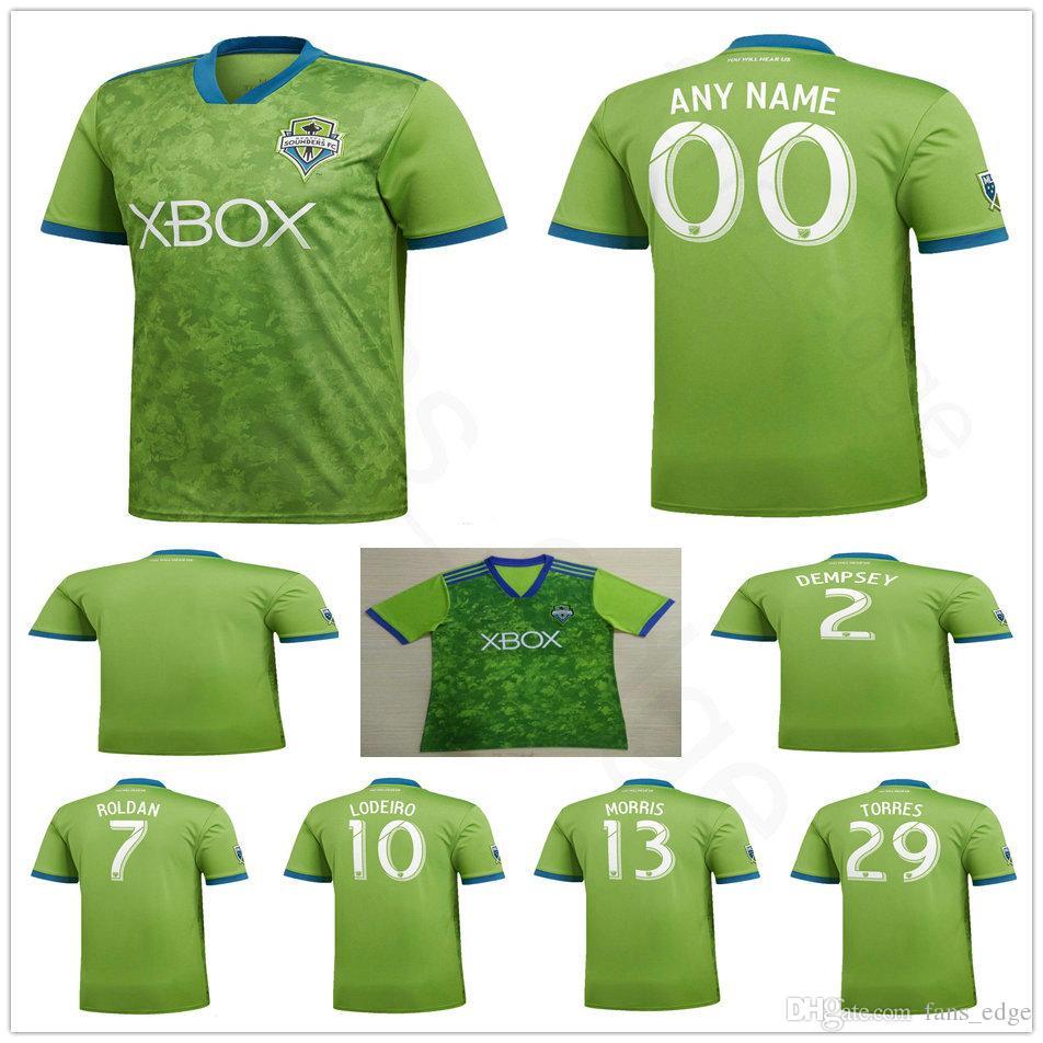 b00ea5801 2018 2019 Seattle Sounders Soccer Jersey 2 DEMPSEY 13 MORRIS 10 ...
