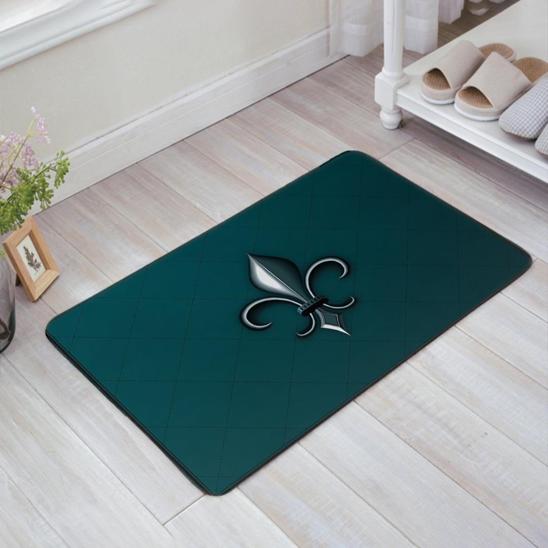 Charmhome Fleur De Lis Doormat Entrance Rug Door Mat Fabric Indoor