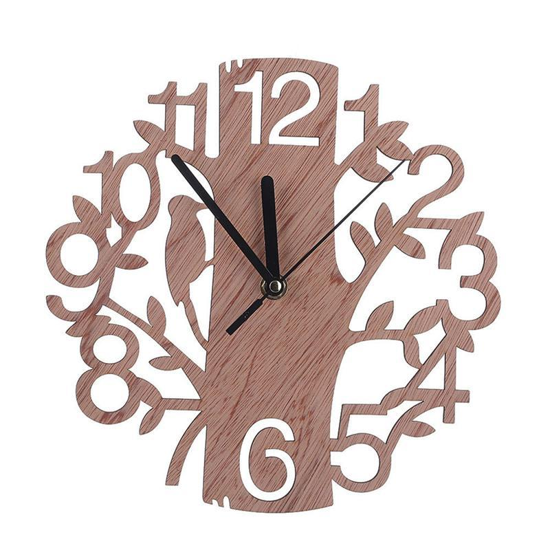 Creative Tree Shaped Wooden Wall Clock House Living Room Decoration Square  Kitchen Wall Clocks Stainless Steel Kitchen Clock From Dtanya, $31.66   Dhgate.Com