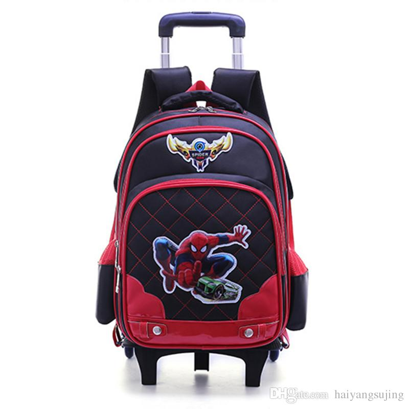 24eb2a49bdde Kids Trolley School Bags Boys Removable Backpack 2-6 Wheels For ...