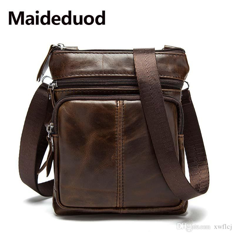 dfd5e80f79c0 Men s Bag Genuine Leather Crossbody Bags for Men Ipad Flap Zipper ...