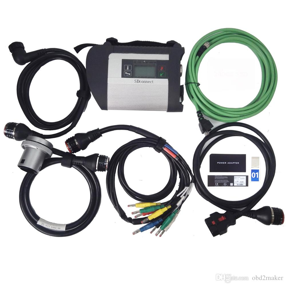 MB Star C4 with 5 Cables SDconnect Diagnosis Multiplexer Support for Benz Cars and Trucks in stock