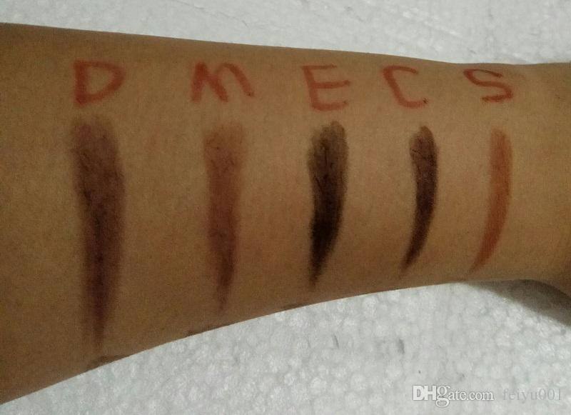 Maquillage chaud double crayon à sourcils BROW CRAYON CRAYON EBONY DOUX MARRON FONCÉ BRUN MOYEN CHOCOLAT Livraison gratuite
