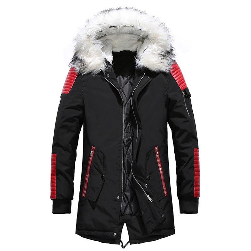 4d0fa38d98e8 Long Parka Men Winter Hooded Warm Fur Men s Coats Thick 2018 Faux ...