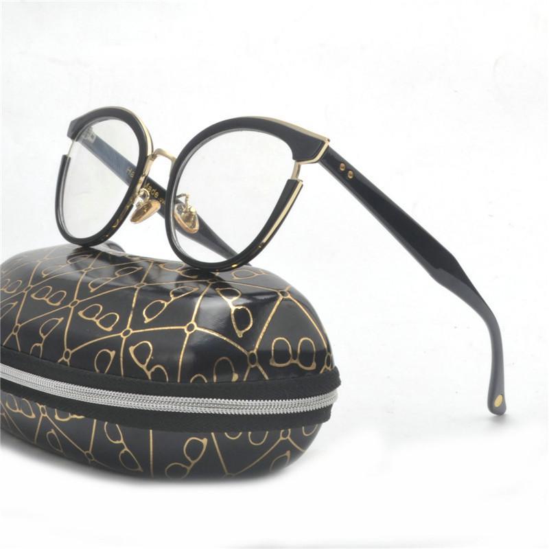 Compre Nova Mulher Olho De Gato Em Volta Espetáculo Óptica Óculos Frames  Mulheres Moda Óculos De Miopia Óculos De Olho Óptico Quadro Com Caixa Fml  De Frenky ... ad9f28b99d