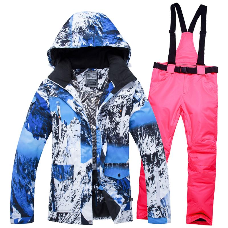 Thermal Warm Ski Wear Women S Ski Suit Professional Female Snow Board  Jackets And Trousers Set Brand Skiing Clothes Good Quality UK 2019 From  Fwuyun 45ab95268c