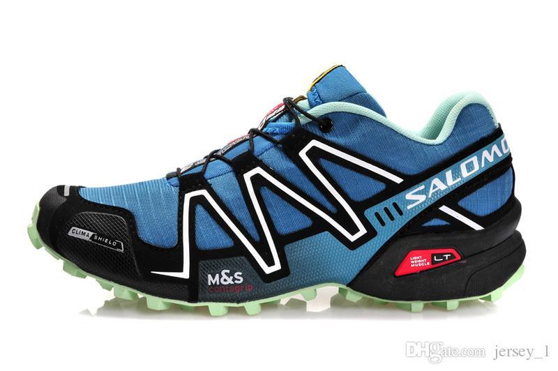Salomon Speed cross 3 Blue Moon Running Shoes Men Walking Outdoor Sport Zapatillas Speed Crosspeed 3 Jogging Shoes Sneaker Size 40-46