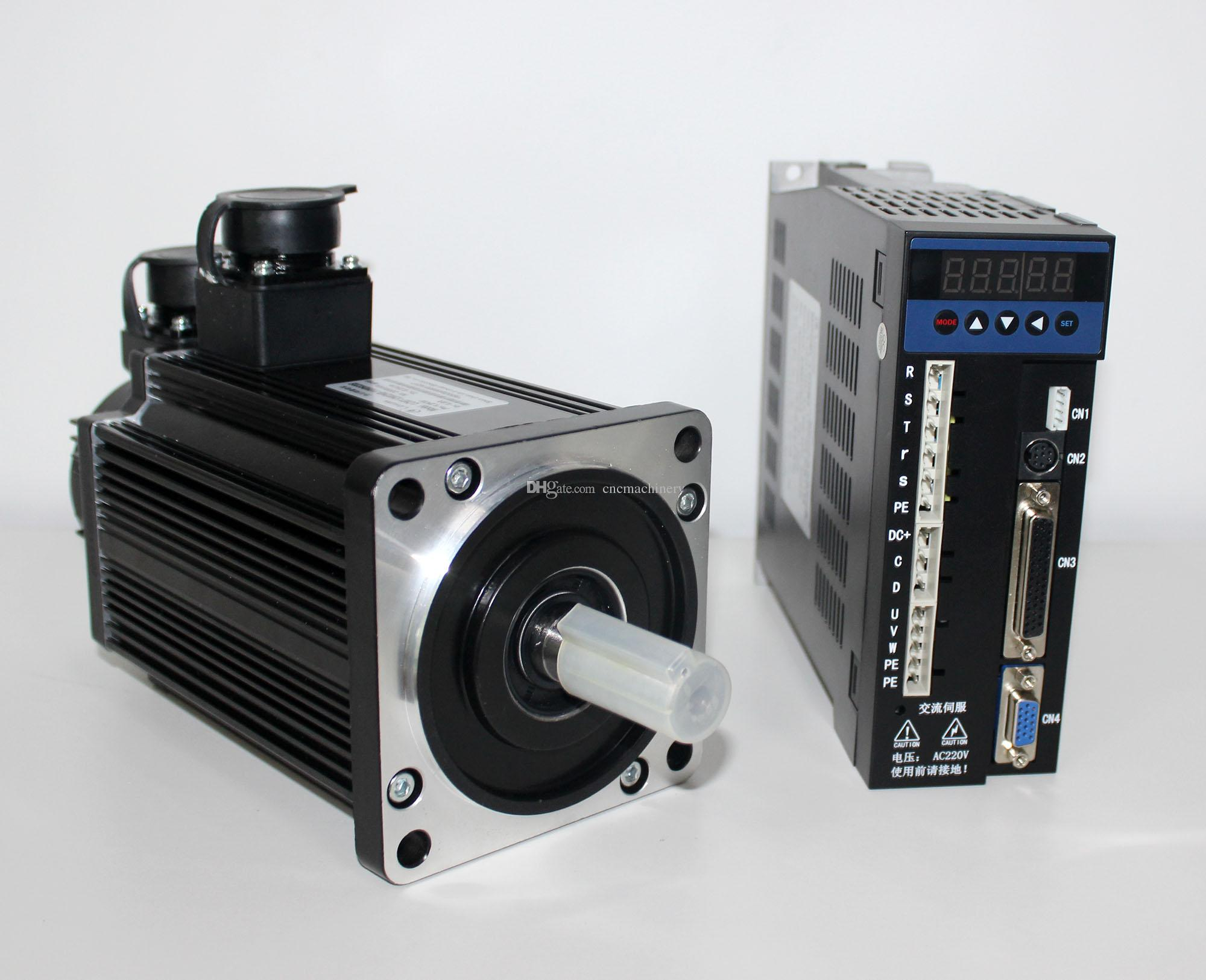1500W 110mm 5N m servo motor kit with brake 3000rpm 220v 708oz in  110ST-M05030 AC sevomotor set for beads machine woodworking