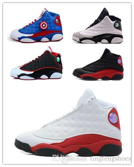 f1e19ced8295de 2018 New 13s 13 Man Basketball Shoes Low Chutney Navy Blue Pure ...