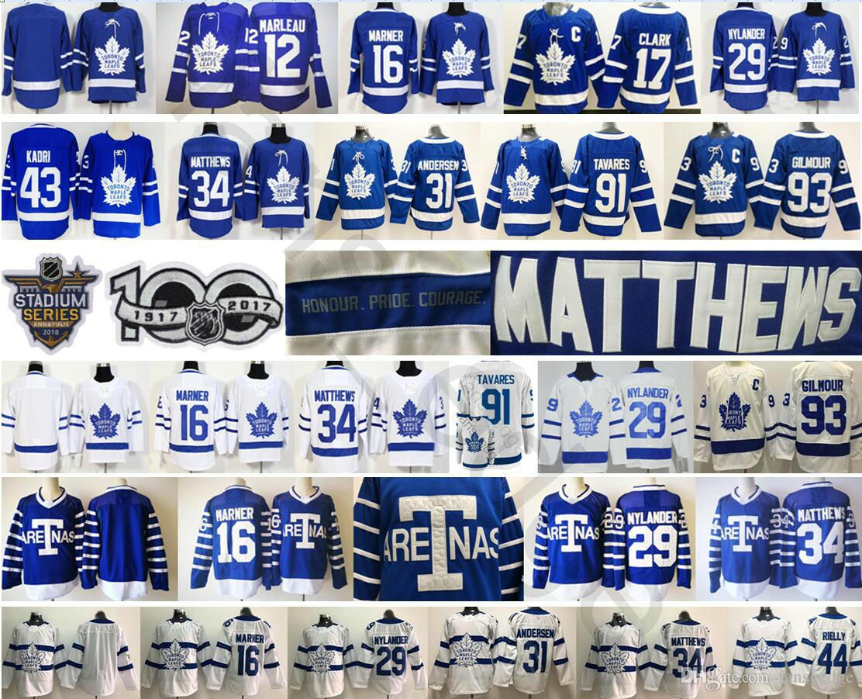 Toronto Maple Leafs  91 John Tavares Jersey 16 Mitchell Marner 29 ... d6f3016e1