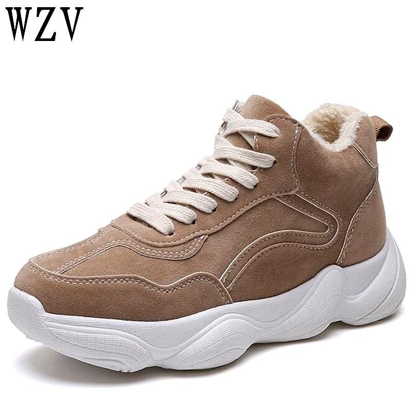 New 2018 Winter Fashion Women Warm Casual Shoes Suede Platform Shoes ... 3e4f543a74c8