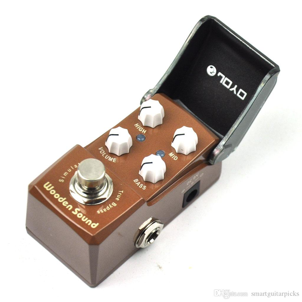 JOYO Wooden Sound Acoustic Simulator Mini Guitar Effect Pedal Brown JF-323