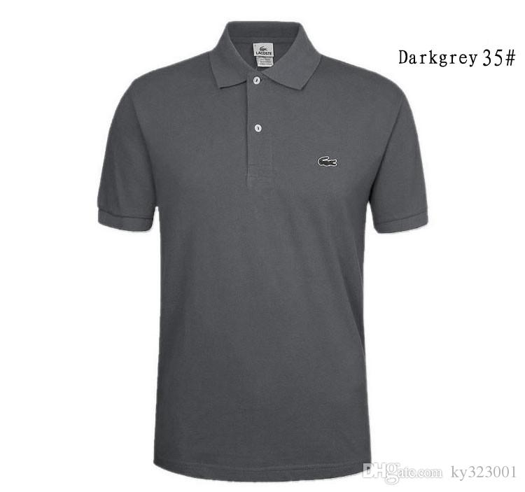 358b2e522b4 Acheter New Brand Broderie Polo Shirt Hommes Solide Couleurs De Mode Col  Design Polo Homme D été À Manches Courtes Polos Hombre MT653 De  9.14 Du  Ky323001 ...