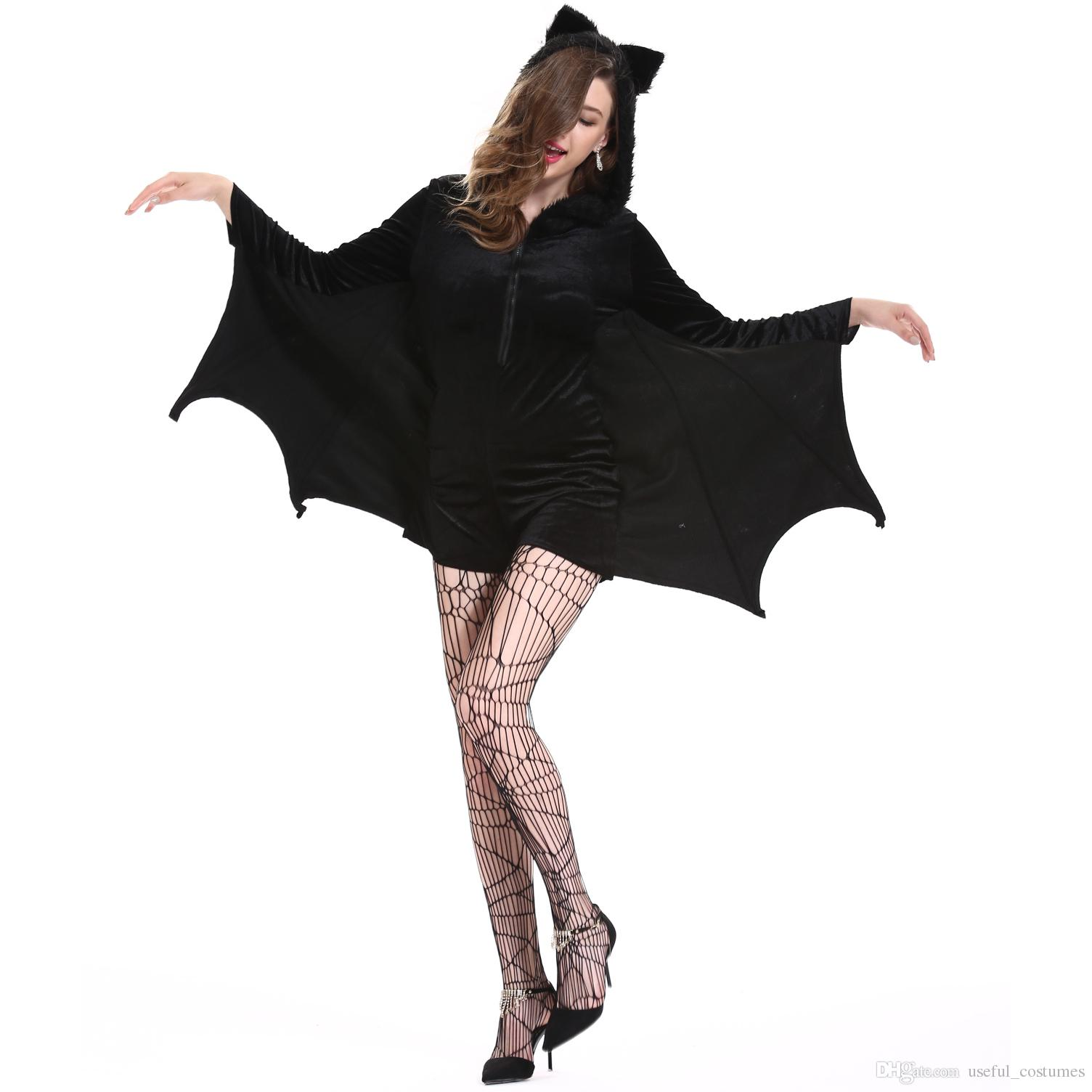 3108fc08a2 2018 Vampire Bat Wings Children Dracula Cape Fancy Dress Halloween Costume  dress halloween costumes for adults women withches cotton large