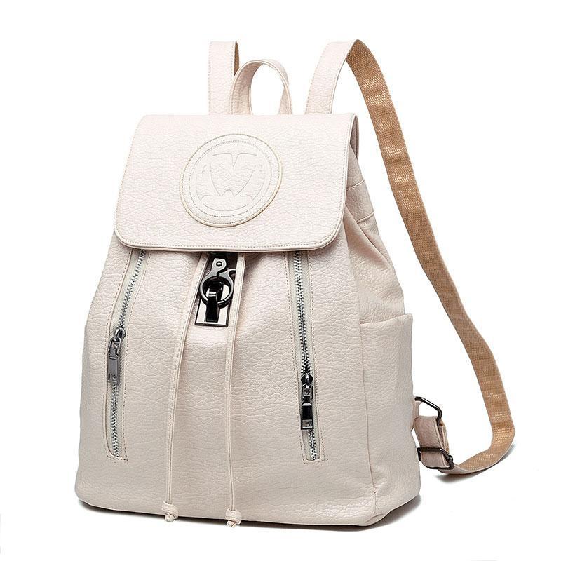 6dda1bb160 2017 New Fashion Girls Backpack PU Leather Embossing School Bags Female  Backpack Lady S Soft Travel Blak Pink White Swiss Gear Backpack Osprey  Backpacks ...