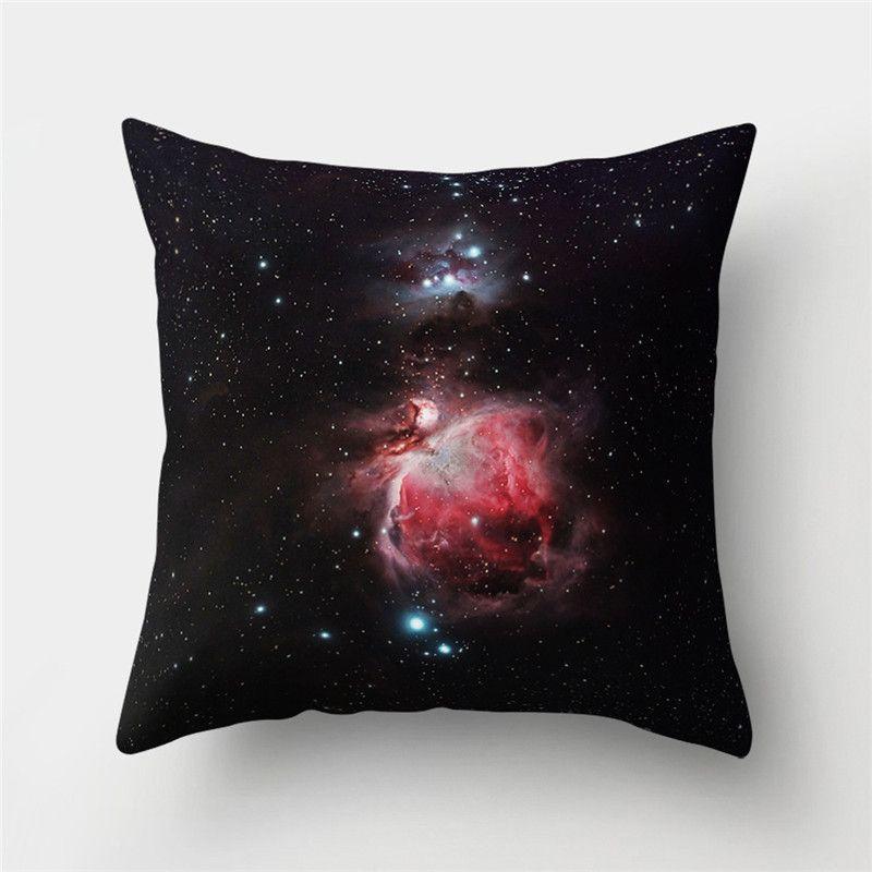 별이 빛나는 하늘 공간 패턴 복숭아 피부 베개 커버 홈 장식 베개 커버 던지기 베개 커버 45 * 45CM