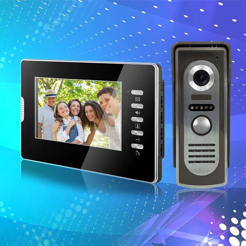Großhandel Verdrahtete 7 Farbe Video Türsprechanlage Video ...