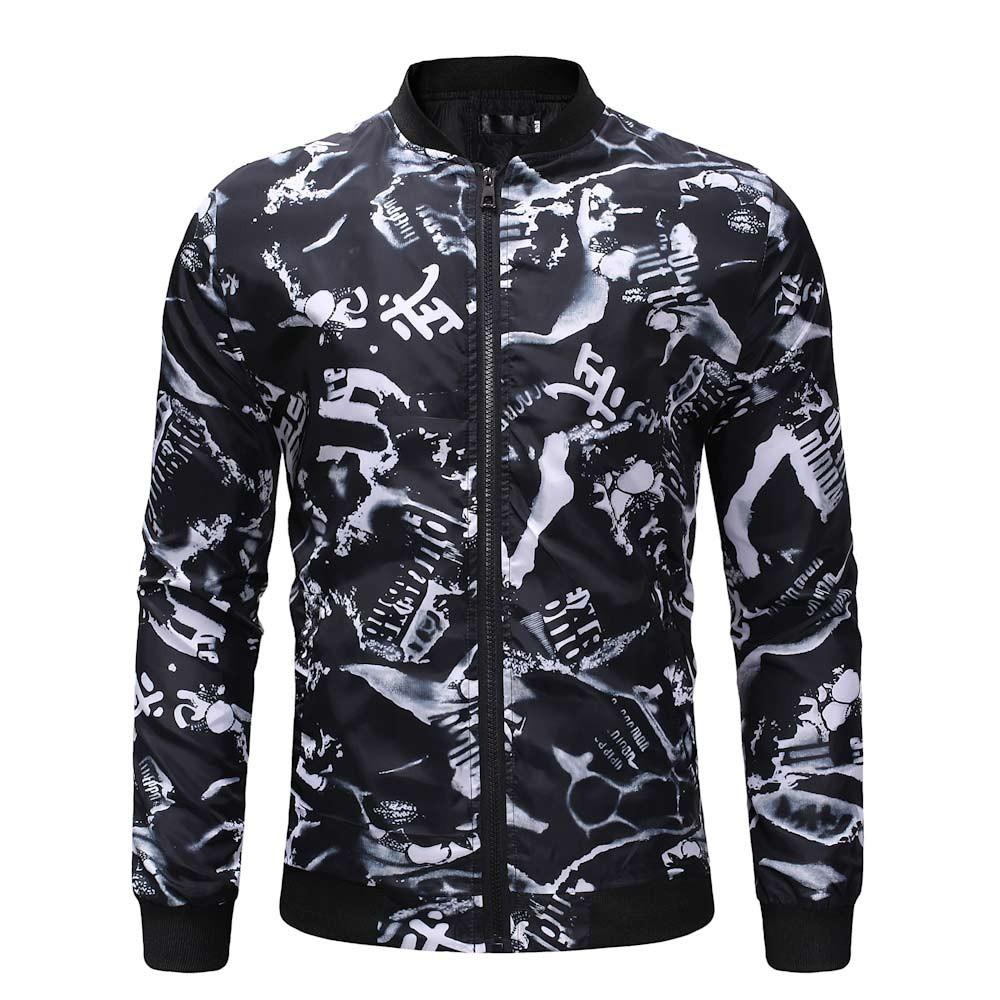 Acquista FeiTong Jacket Men Winter 2018 Streetwear Giacca A Vento Uomo  Abbigliamento Outdoor Zipper Stampato Sport Outdoor Camicetta Cappotto A   32.97 Dal ... a27aee6db25