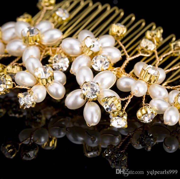 Bridal headwear, handmade pearl drill, Comb Wedding brides, headwear, bride accessories