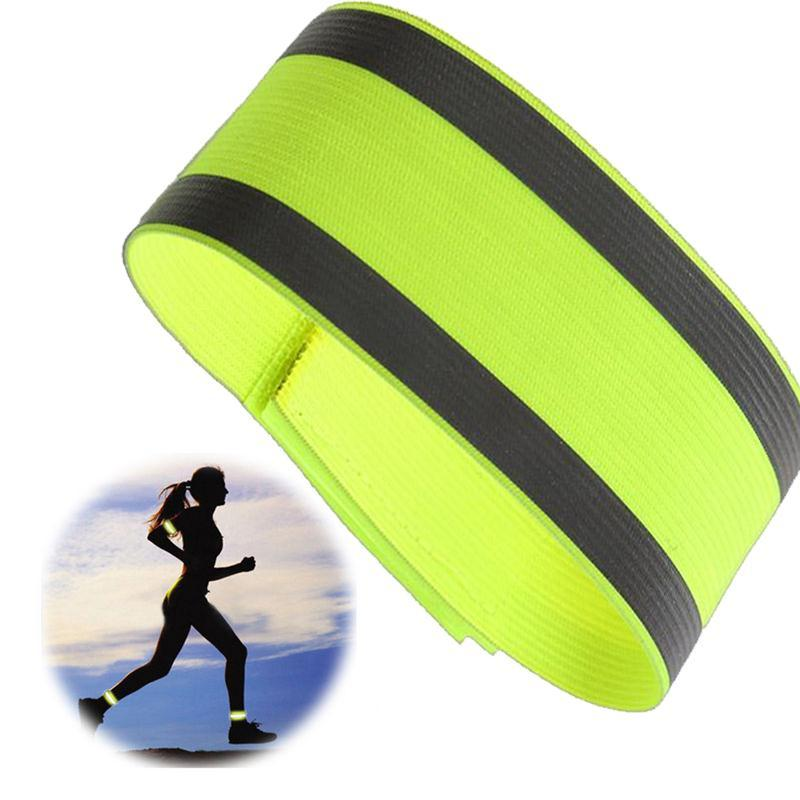 Roadway Safety Reflective Material Responsible Outdoor Sports Night Running Bike Safety Reflective Arm Band Belt Strap