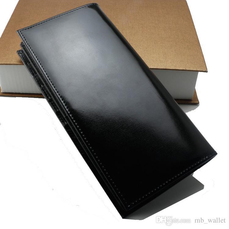 Erkek yeni lüks moda MB hakiki deri cüzdan kartvizitlik siyah uzun kart sahibinin uluslararası klasikleri kredi kartı cüzdan