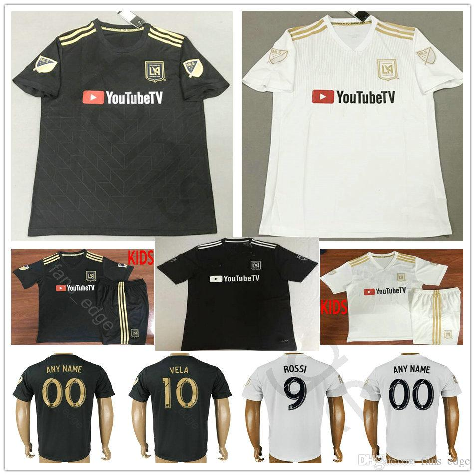 a2fb2a37c 2018 18 19 Los Angeles FC Soccer Jerseys GABER ROSSI 10 VELA CIMAN ZIMMERMAN  Custom Black White LAFC Adult Kids Youth 2019 Football Shirts From  Chen shop