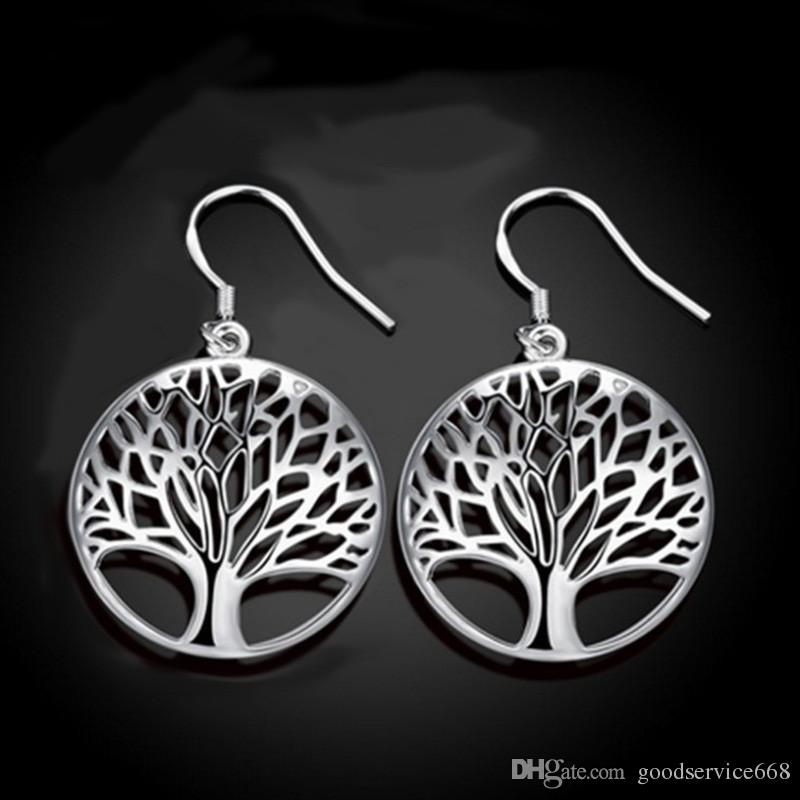 The Tree of Life Jewelry Set Suit Bracelet, Earrings, Necklace and Ring Good Gift for Girlfriend Mom EMS
