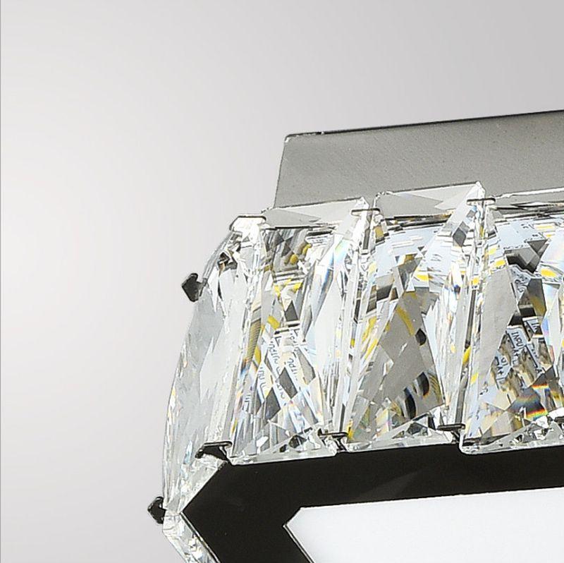 Moderne einfache elegante quadratische 40 cm LED Kristall Deckenleuchten Glanz cristal Plafons LED für Esszimmer Wohnzimmer Schlafzimmer