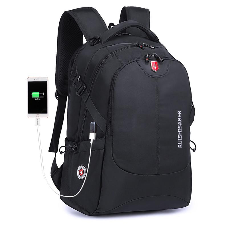 Swiss Waterproof Nylon Backpack Unisex Men S Laptop Phone Charger Backpack  Casual School Bags Travel For 15 To 17 Inch Camera Backpack Back Packs From  ... b1df31a21cc8