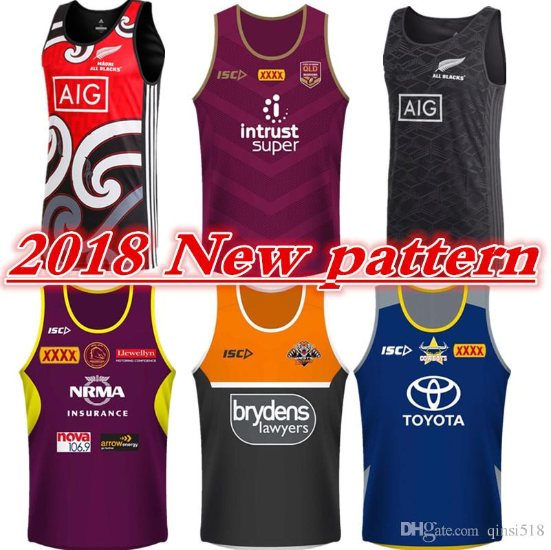 8fdc1793d 2018 2018 Queensland Maroons Singlet Brisbane Broncos Wests Tigers Maori  All Blacks North Queensland Cowboys Size S Xxxl Tonga Rugby Jerseys From  Qinsi518