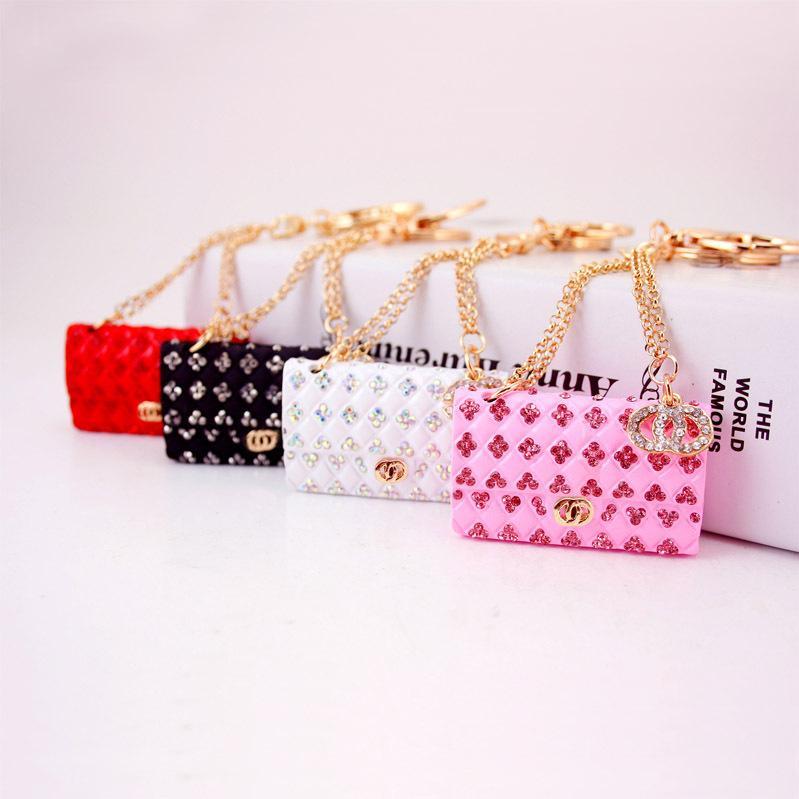 Handbag Shape Luxury Keychain Jewelry Metal Rhinestone Key Chain Holder  Keyring Womens Keychains Purse Handbag Charm Party Wedding Gift Keyrings Uk  Bottle ... d67b3dcfdb