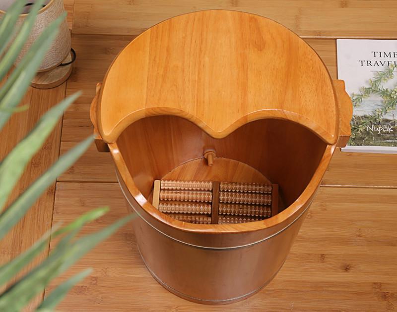 2018 50 Oak Wooden Barrel Wooden Tub Domestic Foot Bath Tub Bathing ...