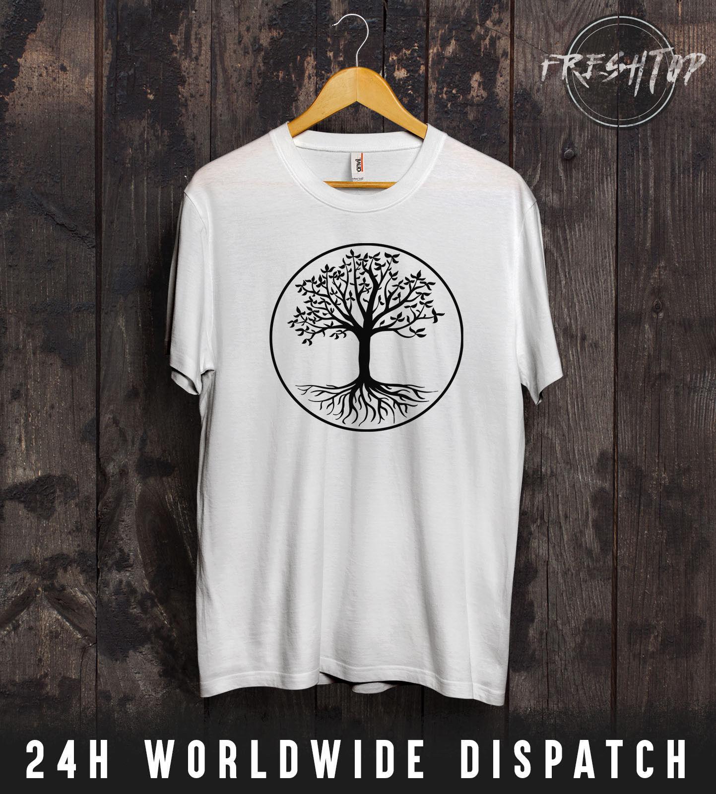 Compre Camiseta Árbol De La Vida Madre Tierra Verde Druida Viva Wicca Pagan  Jardinero Celta Encantadora Camiseta De Verano Tops 100% Algodón Fresco  Camiseta ... 6253a63559ce7