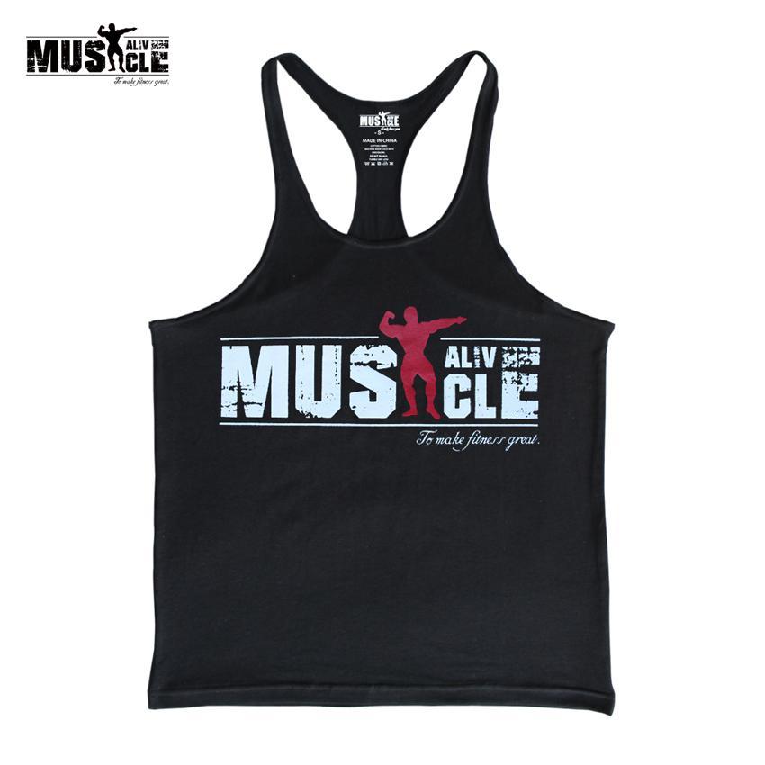 66d5e45bd2 Bodybuilding Tank Tops Men Gyms -Clothing Stringer Fitness Gyms ...