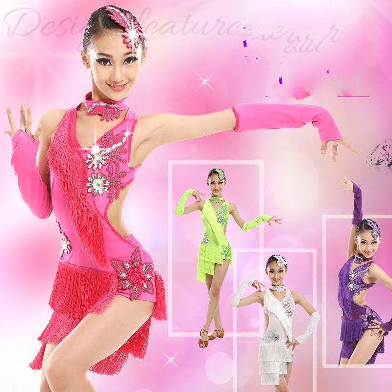 f3c3ee09f 2019 Tassel Latin Dress Kids Fringe Ballroom Tango Samba Salsa Rumba Dance  Competition Dresses Dance Wear Latin Dress For Girls From Sugarlive, ...