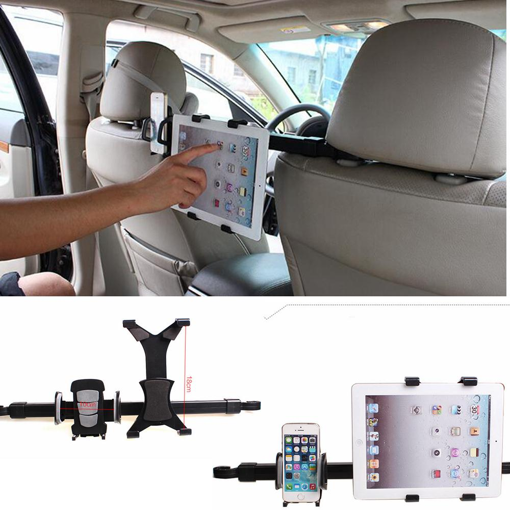 2-in-1 Car Back Seat Headrest Mount Holder Stand Bracket tablet stand Kit 7-10 Inch For iphone 6 For samsung For iPad 4 air AAA995