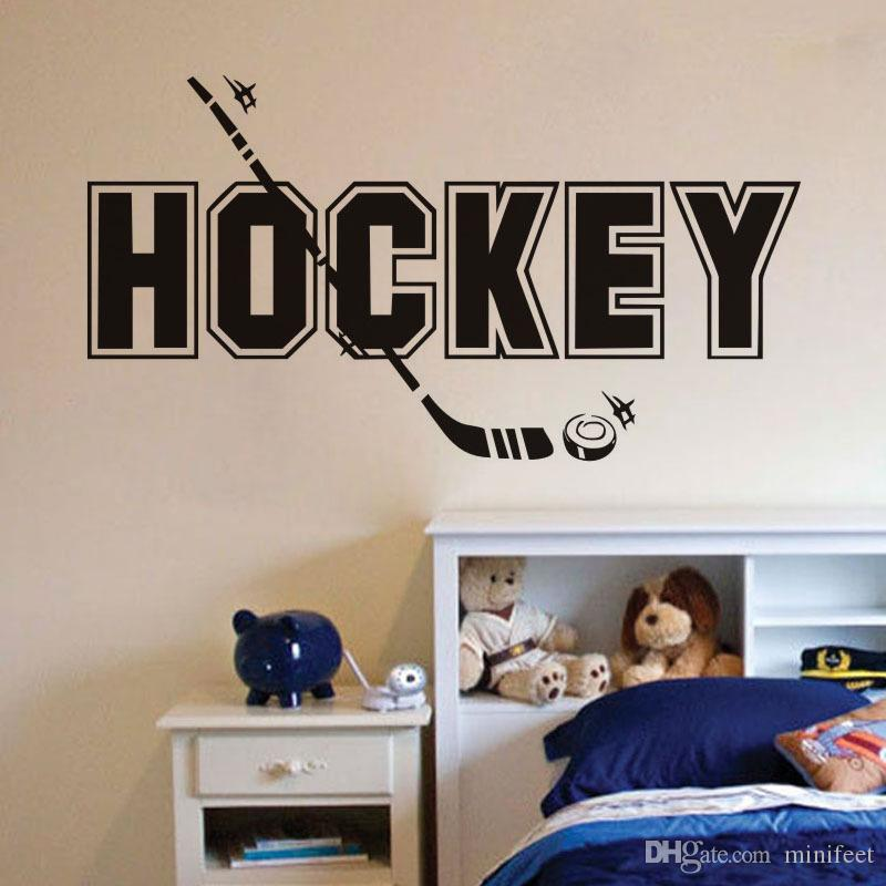 creative wall stickers hockey baseball sports wallpaper waterproof