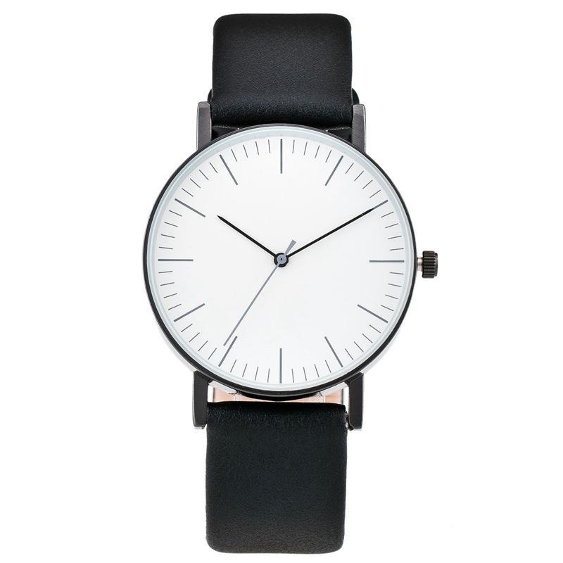 82dd2ada635 Compre NO LOGOTIPO Clássico Relógio De Elite Das Mulheres Dos Homens  Simples Ponteiro Estável Relógio De Moda Entrevista Gola Branca Relógio De  Pulso ...
