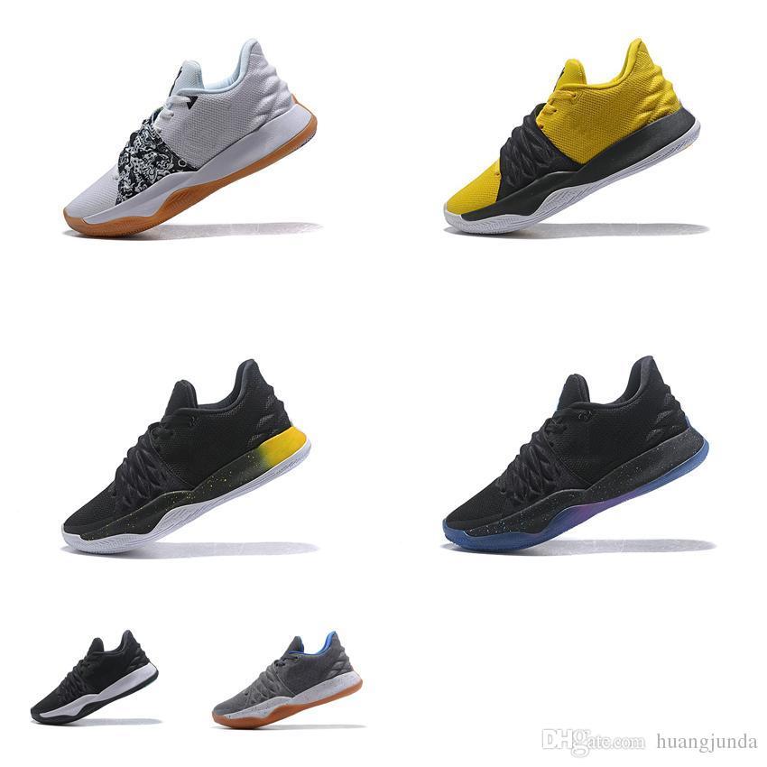 e7e6fecfff4 Cheap New Men Kyrie Low Cut Basketball Shoes Cool Grey Black Yellow ...