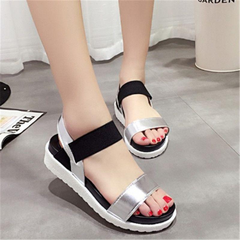 1bd1d56615f5e2 2018 New Shoes Summer Sandals Women Peep-toe Sandalias Flat Shoes ...