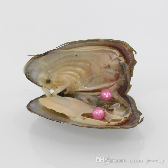 Wholesale 2018 DIY round Oyster Twins Pearl 25 mix color Freshwater Natural pearl Gift DIY Loose Decorations Vacuum Packaging