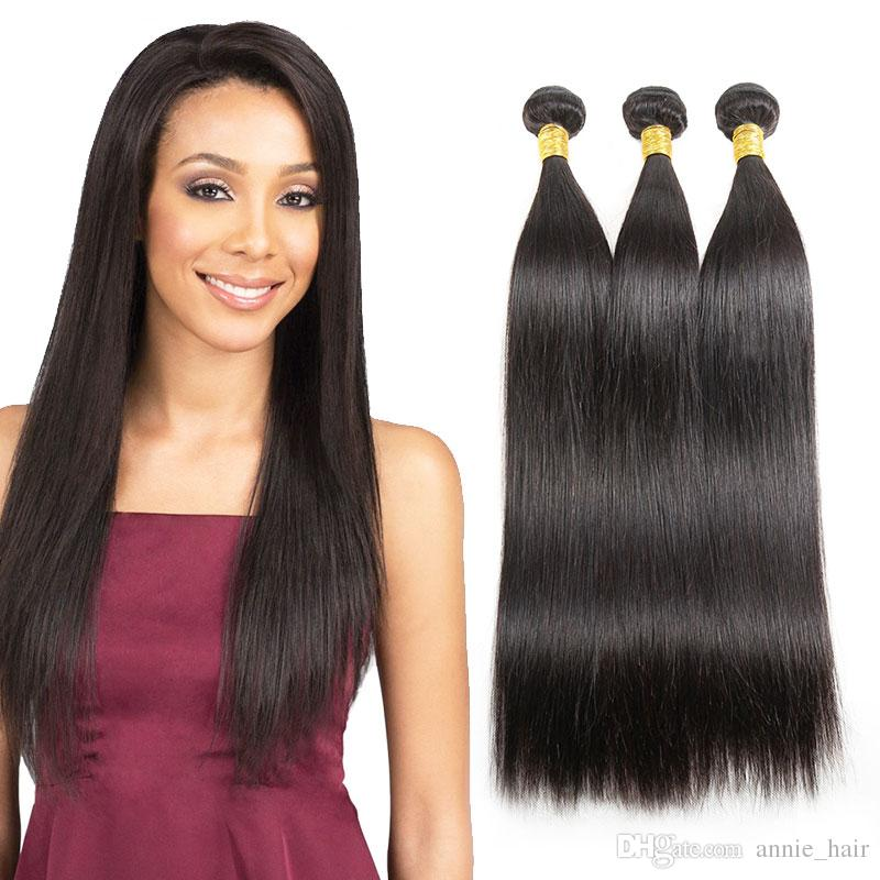 Straight 1 Bundle Braizlian Wet and Wavy Hair Bundles Unprocessed 8a Virgin Hair Natural Black Cheap Hair Extensions