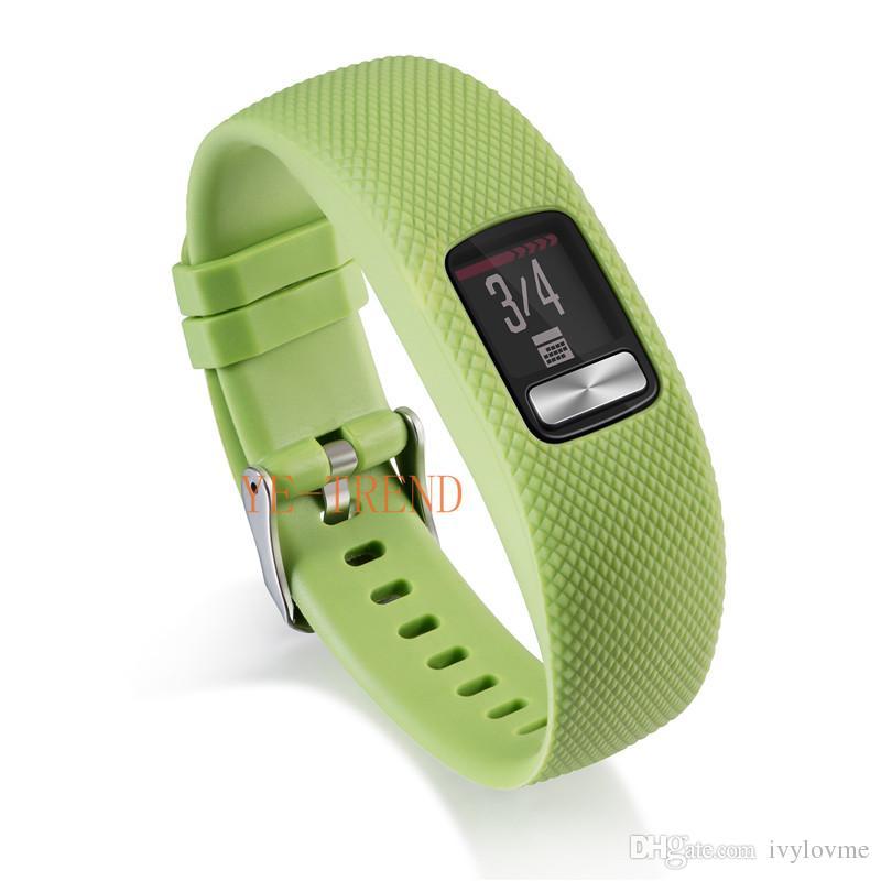 New arrival Replacement Smart wrist rubber Band watchband Silicone Strap For Garmin Vivofit 4 Vivofit4 Wristband
