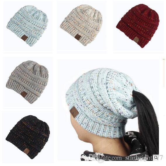 Compre Sombrero De La Gorrita Tejida De Las Mujeres Cc Warm Grueso ...
