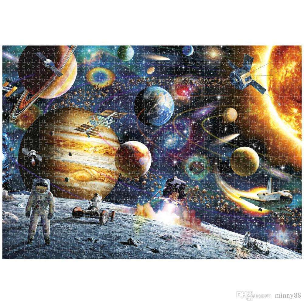 Горячие продажи головоломки 1000 штук головоломки для взрослых и детей образовательные игрушки изображения человека из космоса