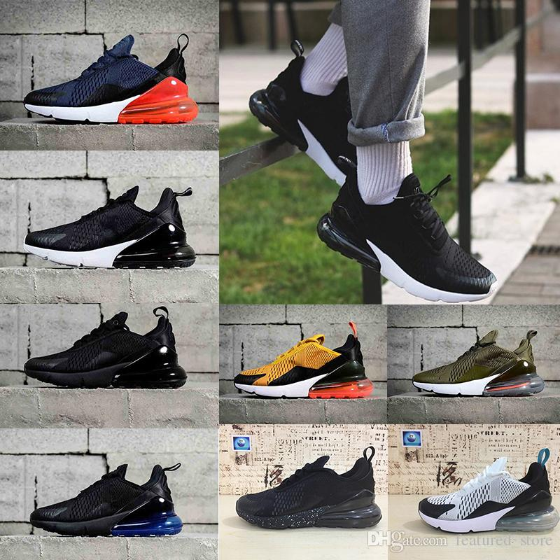 free shipping supply With box Newest 270 Running Shoes Men Hot Punch Triple Black Midnight Navy Blue Man Sport Shoes Photo Blue Athletics Sneakers us 7-11 buy cheap choice UML1v