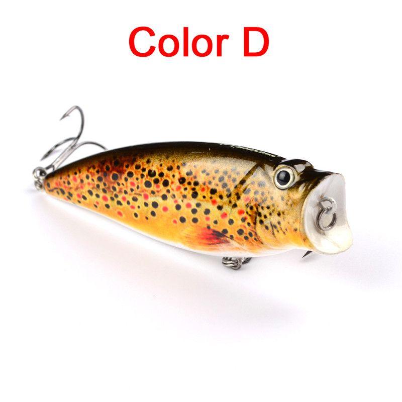 Drag Hit Water Splash Floatling Плавательный Приманка Поппер, бегущая или раненая приманка 9.5см 16.3g Большой рот Реалистичная приманка для искусственной рыбы